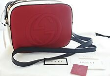 GUCCI Soho Disco Leather shoulder Crossbody Bag Hibiscus Red / Multicolor 431567