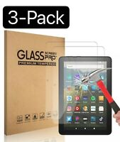 """3PCS Tempered Glass Screen Protector For Amazon Kindle Fire HD 7"""" 8"""" 10"""" Tablet"""