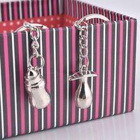 Cute Feeding Bottles Design Key Chain Key Fob Pacifiers Key Chain Key Rings Gift