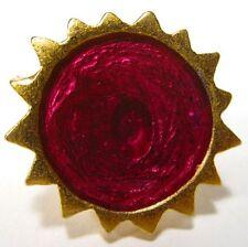 SoHo® Ring Sonne gold Kunstharz retro resin style Kaltemail violett