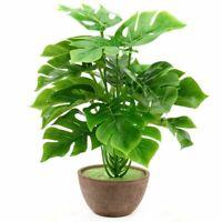 Monstera Palm Leaves Plant Artificial Plastic Fake Flower Bouquet Home Decor DIY