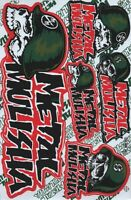1x Decals Metal Mulisha Logo Racing Stickers Sheet Emblem Motorcycle Racing S43