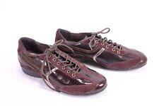 C1846 GEOX Respira Damen Sneaker Halbschuhe Leder Lack Gr. 37 bordeaux gold