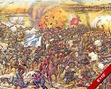 BATTLE OF SAKARYA PAINTING GREEK GRECO TURKISH INDEPENDENCE WAR ART CANVASPRINT