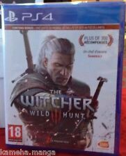 the Witcher 3 WILD HUNT PS4 PLAYSTATION NEUF SOUS BLISTER VERSION FRANCAISE