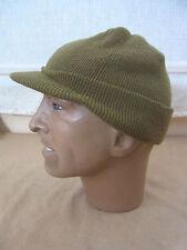 size M - BEANIE CAP US ARMY WW2 Strickmütze oliv drab Mütze Jeep Driver