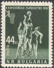 Bulgaria 1957 Campeonato Europeo de Baloncesto/Deporte/Juegos 1 V (n26119)