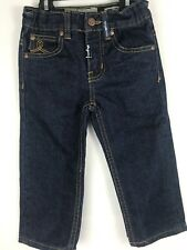 LR Geans Boys Size 2T Straight Fit Kids Dark Blue Adjustable Waist NWOT