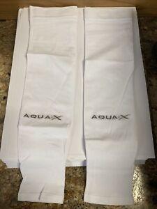 MIPAN AQUA X Sport Cool Wristlet White Color Ice Skin UV Cut Arm Warmers