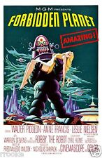 Forbidden Planet Robby the Robot Sci-Fi Movie Theater Poster / Fine Art Print