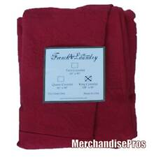 FRENCH LAUNDRY HOME RED KING COVERLET  108x98  NEW!  $860 MSRP