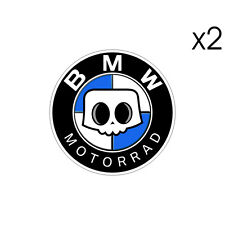 2 Stickers plastifiés SKULL BMW Motorrad - S1000RR HP4 Adventure - 5,5cmx 5,5cm