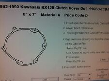 Kawasaki KX125 outer clutch cover Gasket 1992 1993