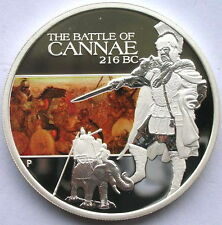 Tuvalu 2009 Battle of Cannae(216BC) 1oz Colour Silver Coins,Proof