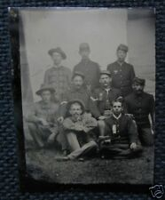 US Soldiers Uniforms Tintype Photograph cdii