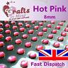 56 x 8mm Hot Pink Quality Rhinestone Diamante Gems Diamonte 4 Greeting Cards