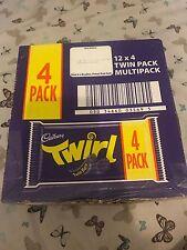 CADBURY TWIRL CHOCOLATE BARS X 48 Date Long Cheapest On Ebay.
