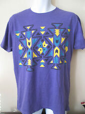 Cedarwood State-Viola Tribale Stampa T-shirt taglia small