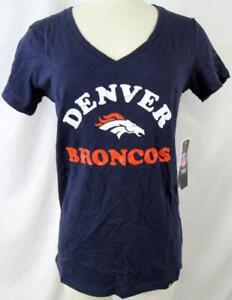 Denver Broncos Women Small Medium Large or X-Large Screened Team Tee ADEB 104