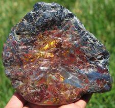 2LB 4.4OZ Natural Blue Gold Red Pietersite Crystal Carving Freeform GEM