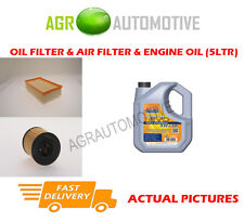 DIESEL OIL AIR FILTER KIT + LL 5W30 OIL FOR PEUGEOT 307 CC 2.0 136 BHP 2003-09