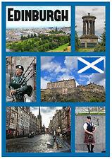 EDINBURGH, SCOTLAND - SOUVENIR NOVELTY FRIDGE MAGNET - SIGHTS / FLAGS - GIFTS