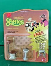 "MATTEL THE LITTLES""SINK AND COMMODE"" 1980 UNPONCHED NIC"