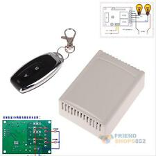DC12V 10A 2CH RF Wireless Remote Control Learning Code Receiver Momentary Switch