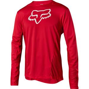 Fox Racing Demo Long Sleeve L/S Camo Burn Jersey Bright Red