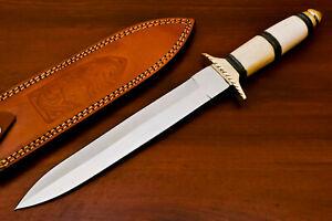 Rody Stan HAND MADE D2 BLADE DAGGER HUNTING KNIFE - BRASS GUARD - AS-5920