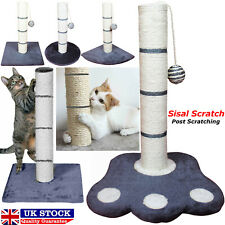 Cat Scratching Post with Corner Base Made of Sisal & Faux Fur Material With Ball