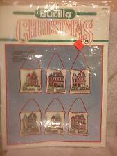 Bucilla Victorian Houses Cross Stitch Ornaments Kit #82749 Set of 6 NIP