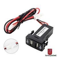 Dual Port  2 USB Charger Adapter For Toyota 12V Car Socket Lighter Splitter UK