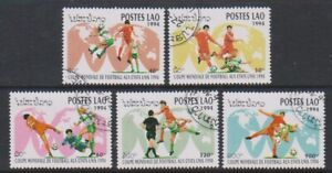 Laos - 1994, World Cup Football set - CTO - SG 1386/90 (b)