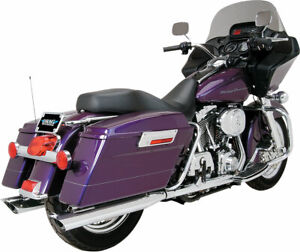 "PYTHON 3-1/2"" Slash-cut Slip-On Exhaust Mufflers (Scalloped) for Harley-Davidson"