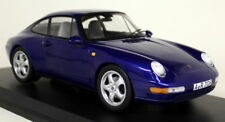 Norev 1/18 Scale - Porsche 911 993 Carrera 1993 Blue Metallic Diecast Model Car