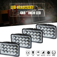 4pcs 4x6inch 45W Led Hi-Lo Seal Beam Rectangle Headlight for Kenworth T400 Truck