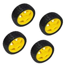 66mm 4pcs Rubber Wheels For DIY Robot Car Truck Industrial Robotic Toy Parts