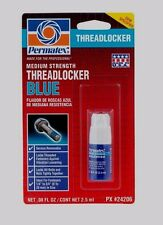 ***.08 oz PERMATEX 24206 THREADLOCKER BLUE Medium Strength Removable Locks Bolts