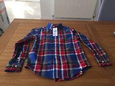 Genuine Ralph Lauren long sleeve shirt multi colour check. BNWT XL 18-20