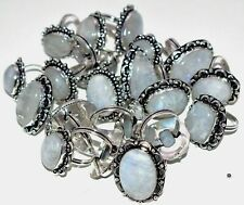 Moonstone Gemstone 5pcs Ring Wholesale Lot 925 Sterling Silver Overlay WHR-5