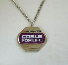 Vintage The Need For Speed Monster Cable For Life Large Medallion Bling Necklace