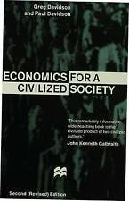 Economics for a Civilized Society, Davidson, Paul, Davidson, Greg, Very Good con