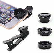 Mini 3in1 Fisheye + Wide Angle + Macro Lens Camera Kit for iOS/Android Phone