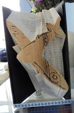 Book Folding PATTERN  Cut and Fold, Spitfire, Airplane
