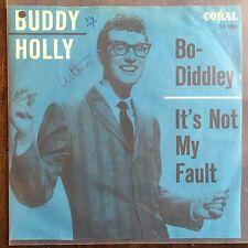 "Vinyl 45 tours Buddy Holly Bo Diddley VG+/VG+ 7"" rare play excellent"