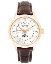 Carl F. Bucherer 18K Rose Gold Manero Moonphase Automatic Men's Watch 00.10909.0
