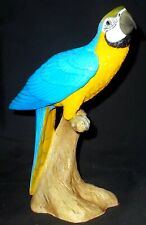 More details for north light blue and gold macaw resin sculpture 1997