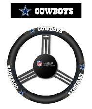 Dallas Cowboys Black Vinyl Massage Grip Steering Wheel Cover