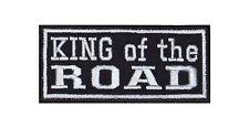 King of the Road Biker Heavy Rocker Patch Aufnäher Badge Kutte Motorrad T993